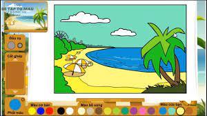 Game Tô Màu Cho Bé 3 Tuổi | Bé Ớt Chơi Trò Chơi Tô Màu Bãi Biển Tuyệt Đẹp |  Be Tap To Mau Tranh Ve | Trò chơi, Game, Bãi biển
