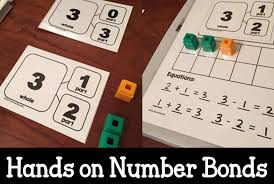 introducing number bonds with hands on experiences