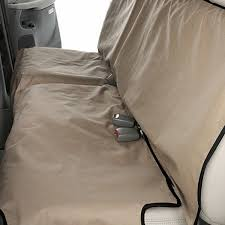 canine covers coated polyester econo rear tan seat protector