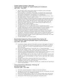 Resume Customer Quality Engineer Cover Letter Best Inspiration