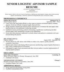 senior logistic management resume senior logistics advisor resume template logistics resume