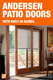 add privacy and convenience to your home with andersen gliding patio doors featuring built in blinds protected from dust and damage between two pa