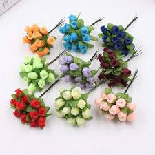 12pcs/lot <b>1.5cm Mini</b> Paper Rose Flowers Bouquet Wedding ...