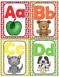 alphabet picture cards alphabet word wall cards abc chart best of kindergarten