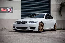 Classic Looking Alpine White BMW E92 335is With HRE Wheels