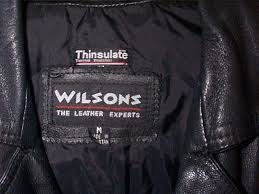 us old school las wilsons leather motorcycle jacket chp style sz m cropped