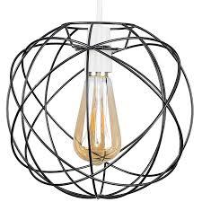 atom metal basket cage ceiling pendant