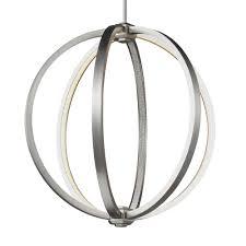 feiss p1392sn khloe 20 inch satin nickel globe pendant ceiling light