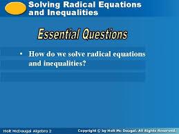 solving equations solving radical