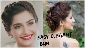 Different Bun Hairstyles Sonam Kapoors Glamorous Hairstyle 5 Minute Romantic Bun Hairstyle