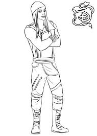 Descendants Coloring Pages Jay Get Coloring Page