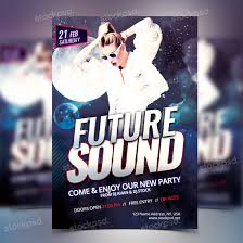 Free Party Flyer Templates Future Sound Party Free Psd Flyer Template Free Psd