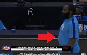 hefty-looking James Harden
