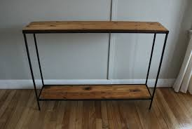 metal console table. build wood metal console table