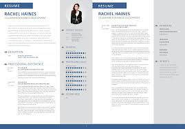 Contemporary 2 Page Resume Layout Photos Documentation Template