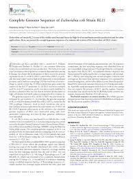 Protein terdiri dari bahan pembangun yang disebut asam amino. Pdf Complete Genome Sequence Of Escherichia Coli Strain Bl21