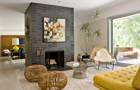 Modern Living Room With Fireplace 3alhkecom A Alluring Mid Century Modern Living Room With
