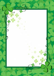 Document Border Template Green Flowers Decoration Vectors Stock In