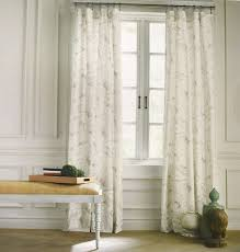 Kitchen Window Curtain Panels Tommy Hilfiger Mission Paisley Grey Beige Gray 2pc Window Curtain