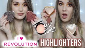 i heart revolution glow hearts review swatches missbeautyemily