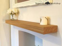 Chunky Oak Floating Shelves