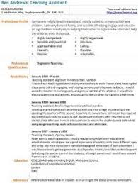 cv teaching assistant teaching assistant cv example learnist org