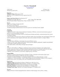 Howo Write Student Resume For College Applications With No Work