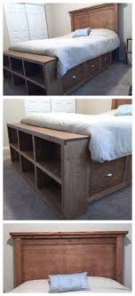 Full Bed Frame With Storage White Farmhouse Bed With Storage And ...