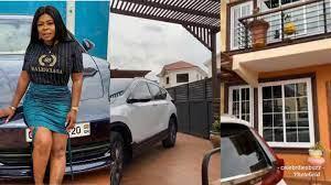 Scooper - Global Entertainment News: Afia Schwarzenegger shows off her  house, cars to mock Akuapem Poloo