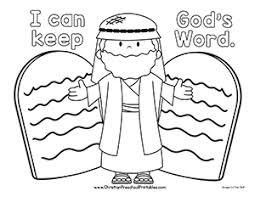 Ten Commandment Bible Printable Christian Preschool Printables