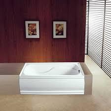 kingston brass vtde603221l alcove acrylic bathtub