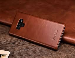 icarer samsung galaxy note 9 curved edge vintage genuine leather case