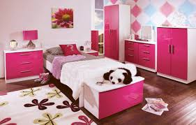 beautiful caspian pink gloss bedroom furniture brown wooden laminate flooring brown metal drum table lamp pink beautiful combination wood metal furniture