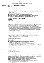 Communications Resume Sample Strategic Communications Resume Samples Velvet Jobs 20