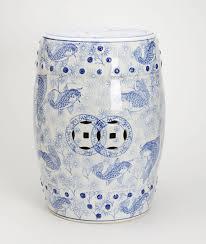 blue garden stool. Wonderful Blue White And Blue Garden Stool With Fish Pictures Inside Blue Garden Stool E