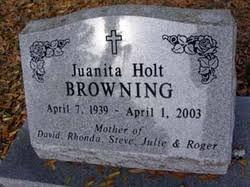 Juanita Rose Holt Browning (1939-2003) - Find A Grave Memorial