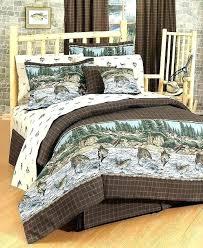 rustic cabin bedding sets river fishing sheet set twin size full regarding canada rustic bedding sets