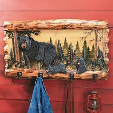 Bear Coat Rack Bear Family Wood Coat Rack 36