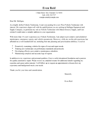 best transportation automotive technician cover letter examples