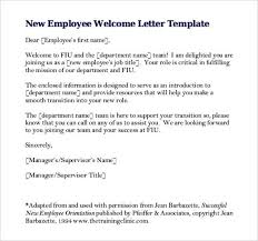 New Employee Wel e Letter Write Up Template in PDF