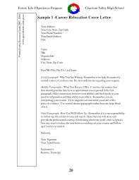 Cover Letter Resume Cover Letter Examples For Relocation Sample