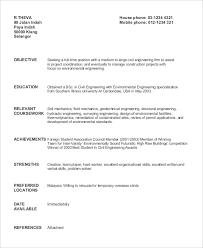 civil engineer fresh graduate geotechnical sample resume for