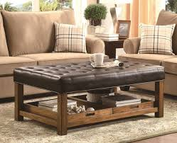 Lancaster Square Coffee Table Ottoman And Split Lift Lid