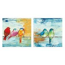 song birds canvas wall art set of 2  on colorful birds canvas wall art with premium thick wrap canvas wall art entitled the usual suspects