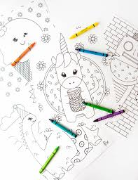 Christmas coloring pages for kids & adults to color in and celebrate all things christmas, from santa to snowmen to festive holiday scenes! 8 Free Kids Coloring Pages Design Eat Repeat