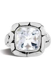 John Hardy Sterling Silver Batu Kali White Topaz Ring Size 7 Nordstrom Rack