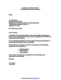 Letter Of Intent Template Letter Of Intent Template Word Planet