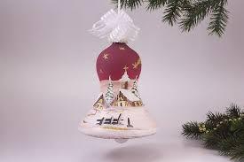 Beleuchtete Glocke 16cm Mit Winterlandschaft In Rot Komplett Mit Trafo Und Ca 5 M Kabel