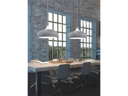 Design Led Hängelampe In Betonfarben Weiß Aus Metall Pendelleuchte Esszimmer Yategocom