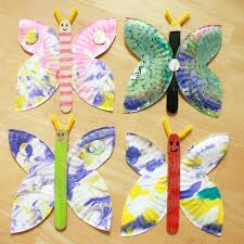 how to make paper plate erflies
